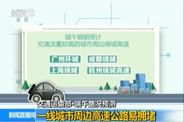 交通运输部:端午假期高速通行不免费 这些地方容易堵车