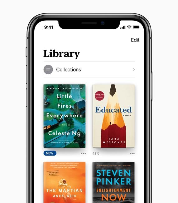 苹果宣布iOS 12中Books应用:全新设计更简洁